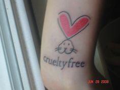 I want the bunny ears! Vegan Tattoo