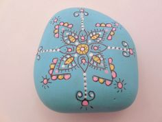 Hand Painted Garden Stone Painted River Stone by BluSkyeCreations