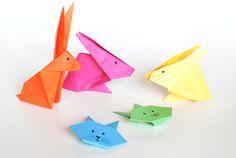 various kinds: origami hazen