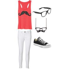 """mustache outfit #1"" by missbri2000 on Polyvore"
