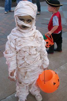 Cute toddler mummy costume