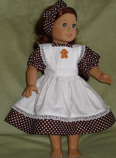 Brown & White Polka Dot Gingerbread by RenwoodCreekBoutique, $14.00