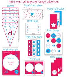 American Girl Inspired Birthday Party    | KristiMurphy.com | DIY Ideas