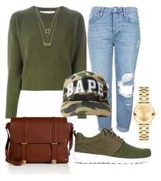 """""""Untitled #974"""" by kgoldchains ❤ liked on Polyvore featuring Marni, Forever 21, Marc by Marc Jacobs, Topshop, NIKE and Movado"""