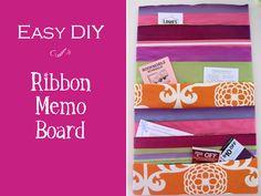 Ribbon Memo Board - Momtastic