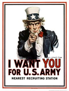 Uncle Sam I Want You for U.S. Army James Montgomery Flagg Art Poster Print - 24x36 $9.80 #unclesam #usa #iwantyou #usarmy #army #propaganda