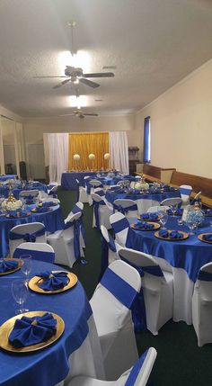 Royal Prince Theme Baby Shower for a boy.  Royal Blue and Gold www.crystalsweddingsandevents.com