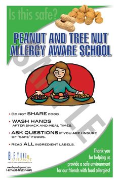 Peanut Allergy Education . Food Allergy Awareness . Empowering Children with Food Allergies All schools should have a program to teach about sharing food.