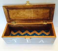 Rustic Tea Box-Gray by ChunksBabyJunk on Etsy #teabox
