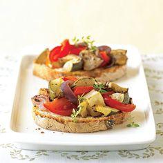Open-Face Ratatouille Sandwiches