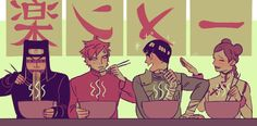 Eating ramen naruto gaara tenten kankuro lee by saishoguu Anime Naruto, Naruto Gaara, Manga Anime, Naruto Gaiden, Naruto Cute, Itachi, Naruto Shippuden, Sasunaru, Naruhina