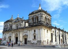 Leon, Nicaragua. - this church is also beautiful, has so much history.