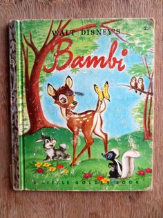 Walt Disney's Bambi (1948) adapted by Bob Grant - A Little Golden Book - Vintage Childrens Books