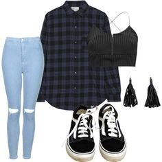 Untitled #14 by vicki-shiu on Polyvore featuring Current/Elliott, Boohoo, Topshop and Vans