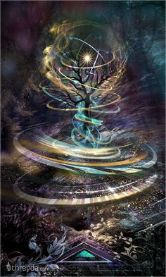 Particle Sanctuary by Peter Westermann , Art Print - Peter Westermann, Threyda Fantasy Art Landscapes, Fantasy Landscape, Dark Fantasy Art, Fantasy Artwork, Art Visionnaire, Psy Art, Galaxy Art, Visionary Art, Elements Of Art