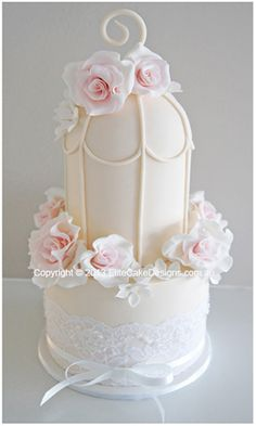 French Bird Cage wedding cake