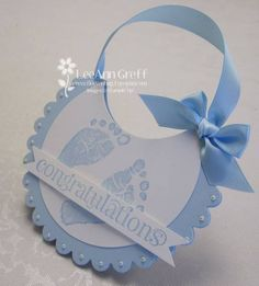 Baby Bib card by flowerbugnd1 - Cards and Paper Crafts at Splitcoaststampers