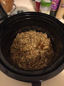 Mexicali Chicken   Bored of ground turkey tacos???  Give this shredded chicken a try and it will not disappoint!! Crockpot cooking is my fa...
