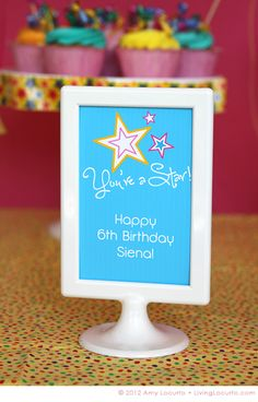 "6 Easy Party Decorating Ideas with Duct Tape.  ""You're a Star!""  Free Party Printable"