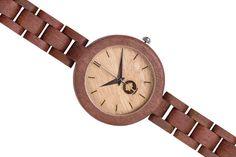 Drewniany zegarek Seria Glamour – Massaranduba - Plantwear - Zegarki na rękę