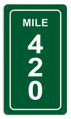 From the Altogether American licensed collection, this Mile 420 Sign measures 8 inches by 14 inches and weighs in at 1 lb(s). This custom metal shape is hand made in the USA using heavy gauge American Weed Humor, Medical Marijuana, Marijuana Funny, Mile 420, Fitness Workouts, Weed Art, Weed, Posters, Carnival