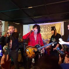 Gary Reichel of Cinecyde and Mike Skill of The Romantics perform at the Detroit All-Star Garage Rock Punk Revue held at PJ's Lager House, Detroit, Michigan on August 6, 2016. #cinecyde #romantics #pjslagerhouse #detroitallstargaragerockpunkrevue #smittesmitty