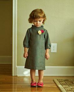 Wool Herringbone School Photo Dress