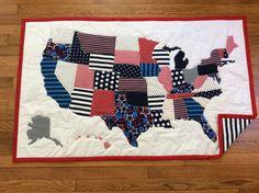 Quilted US Map at Nimble Thimble, NY