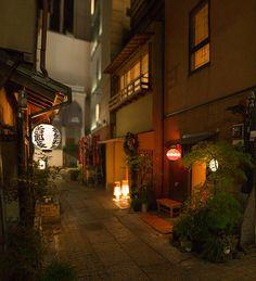 Atmospheric backstreet alley of Ginza, Tokyo