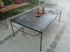 mesa de hierro, chapón