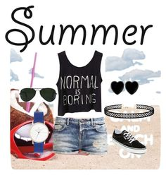 """""""SanSel"""" by jasarevic-merima-zivadinka ❤ liked on Polyvore featuring Vans, LULUS, Dollydagger and Ray-Ban"""