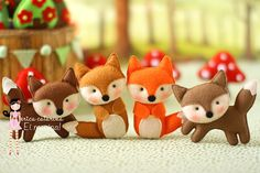 This cute fox would be easy to embellish for a Christmas tree ornament.