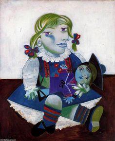 Retrato de Maya con su muñeca, 1938 - Picasso