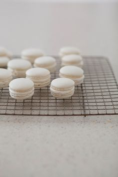How to Make Macarons, step-by-step by annies eats, using Bouchon Bakery recipe-finally this recipe sounds like my macarons will come out just right!!