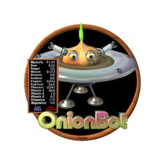 Valxart's OnionBot is one of many FUDEBOTS by Valxart.com to remind us to know what we eat and eat healthy . We are what we eat !   For Nutritional data for foods you eat, see  USDA Nutritional CHARTS  www.cnpp.usda.gov/Resources.htm
