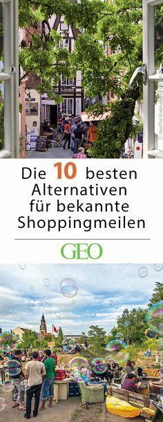 Reisetipps: Wer zu Besuch in einer unbekannten Stadt ist und nur wenig Zeit hat, landet nicht selten in den bekannten Einkaufsstraßen. Doch ein Blick abseits der großen Shoppingmeilen lohnt sich! Wir stellen dir zehn Orte in deutschen Großstädten vor, die zum entspannten Bummeln einladen.