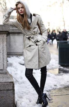 #coat #heels