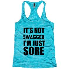 It's Not Swagger I'm Just Sore Burnout Tank Top Choose Shirt Color W... ($21) ❤ liked on Polyvore featuring tops, black, women's clothing, neon pink tank top, henley shirt, burnout shirt, black crop top and neon pink shirt