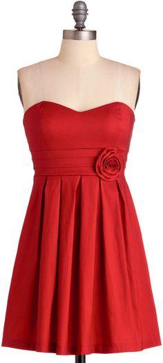 Modcloth Red Ruby My Valentine Dress