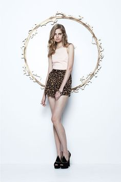maurie & eve |  cruel love bib top | milk floral | $109 love sick shorts | animal print | $99