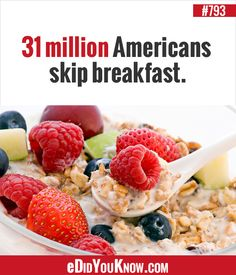 10 Whole Grain Breakfast Ideas Wtf Fun Facts, Crazy Facts, Random Facts, The More You Know, Did You Know, Health Tips, Health And Wellness, Train Your Brain, Healthy Living Tips