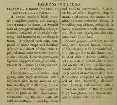 """""""Fashion for Ladies."""" October 1810."""