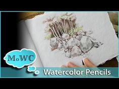 How I colour a mushroom, (blending colours); Enchanted Forest - Johanna Basford - YouTube