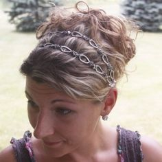 long necklace to headband