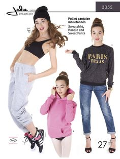 3355 - Jalie Sweatshirt, Hoodie and Sweat Pants Pattern Cover