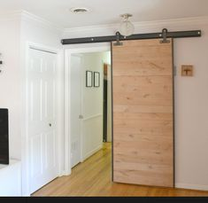 Sliding door to sound proof the hallway