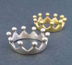 Crown ring Silver crown ring Bronze crown ring by tsirikaua