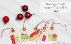 Holiday Crafts with Washi Tape