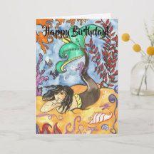 Merman Archie Happy Birthday Greeting Card