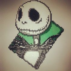Jack Skellington perler beads by hamabead_creations